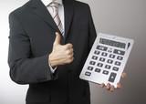 affaires et succès financier poster