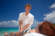 massage outside at sunny weather