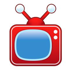 Retro television set vector graphic