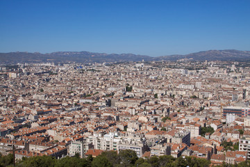 Rooftop view of Marseille
