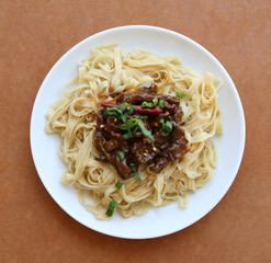 Mongolian Beef and Egg Noodles