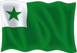 Vector illustration of esperanto flag