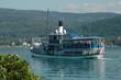 Leinwanddruck Bild - Schiff auf dem Wöthersee