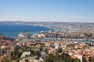 Rooftop view of Marseille, France