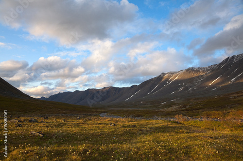 Valley in Polar Ural mountains