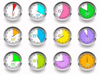 Timer icons collection