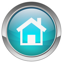 Orb button with Home symbol (blue)