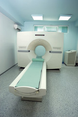 CT (CAT) Scanner in clean empty room in hospital