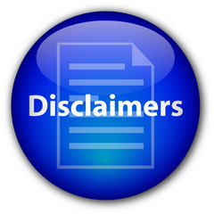 """Disclaimers"" Glassy Button (blue)"