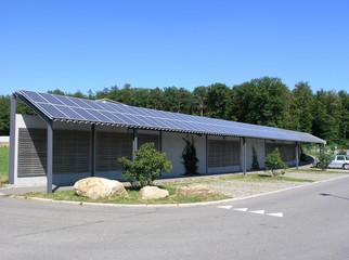Solarzellen Überdachung