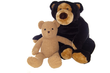 Teddy bear friends, sitting