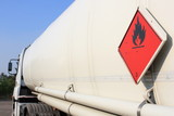 fuel and flammable liquid tanker truck