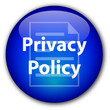 """Privacy Policy"" glassy button (blue)"