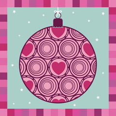 pink decoration greeting card