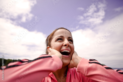 Woman in joy