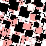 Retro black and red seamless rectangles background poster