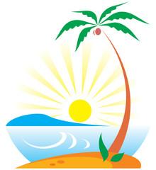 Tropical Scene (Vector)