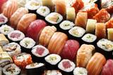 Fototapeta many sushi