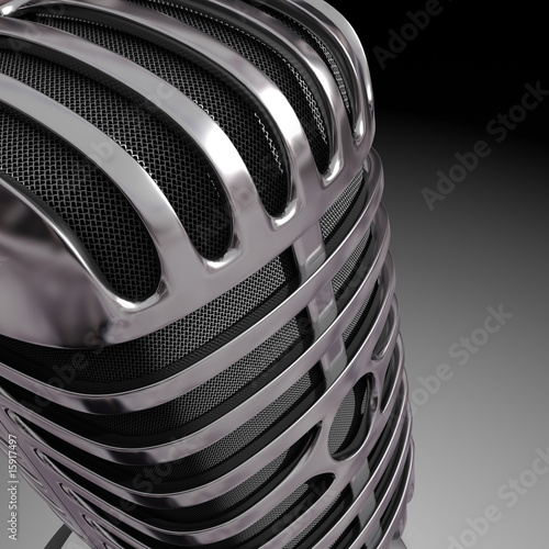 Close of classic microphone.