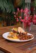 Spicy chicken sandwich with sweet potato fries