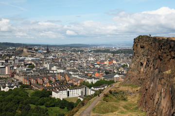edinburgh from salisbury's crag