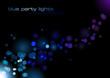 blue defocused lights