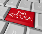 End Recession Key on Computer Keyboard poster