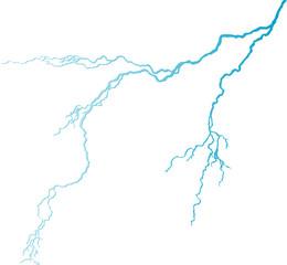 isolated blue lightning