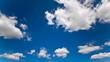 Fluffige Wolken, Zeitraffer Tag