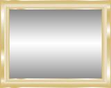 Vector illustration of mirror in the golden frame poster