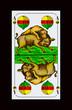 Bayerische Schafkopfkarte -Schellenl ASS