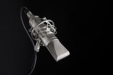 Studio Microphone on black