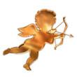 金色天使のシルエット
