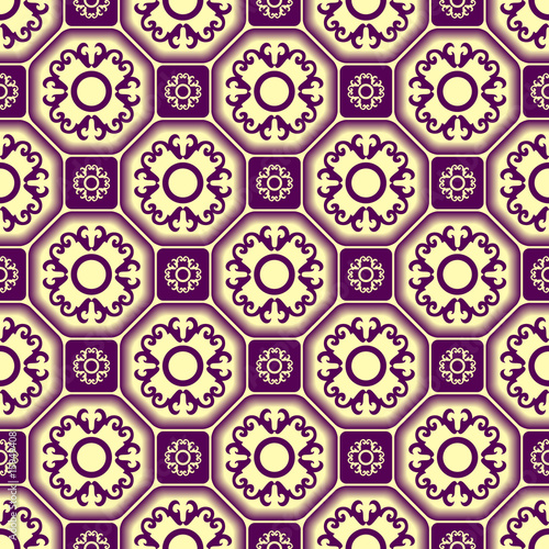 Seamless tile vector pattern with ornament