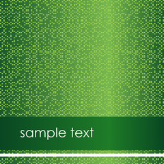 Modern green flyer with sample text