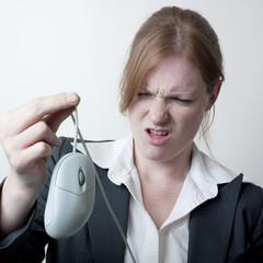 femme échec business ordinateur