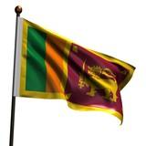 High resolution flag of Sri Lanka poster