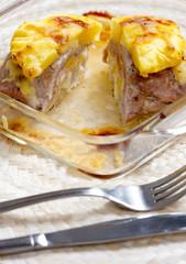 filled pork steak with pineapple
