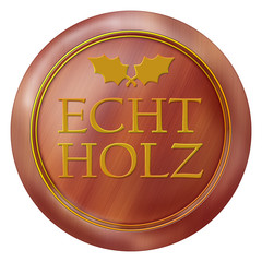 button siegel seal logo echt holz