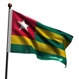 High resolution flag of Togo