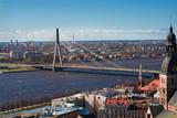 View on a bridge in Riga poster