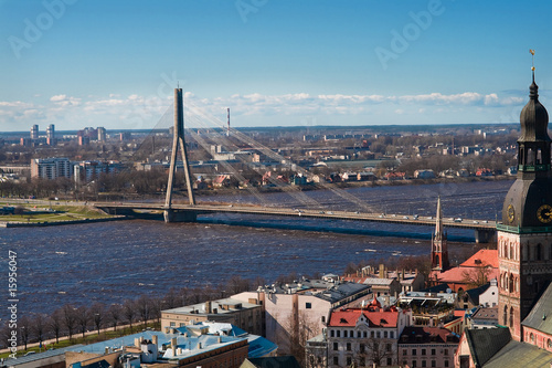 poster of View on a bridge in Riga
