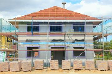 Neubau Dachstuhl Rohbau Einfamilienhaus