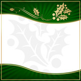 Exotic Green Holly Adorned Gift Tag with Room for your own text poster