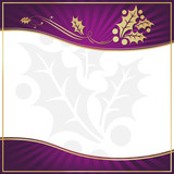 Exotic Purple Holly Adorned Gift Tag with Room for your own text poster