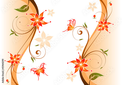 Leinwandbild Motiv Floral background