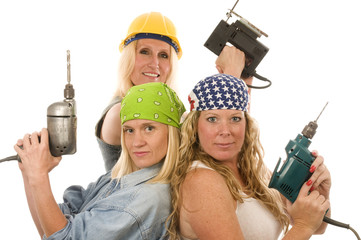 sexy contractor construction ladies with tools