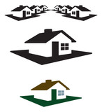 House Logo and Header Ready for your Text and Color poster