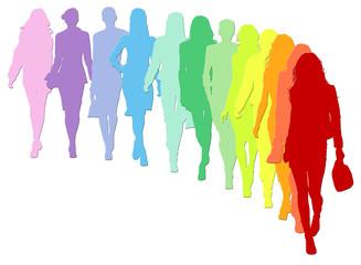 Sfilata 12 silhouette femminili