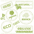 Set of grungy eco stamps, vector illustration